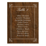 Rustic Tree Wedding Seating Chart Postcard