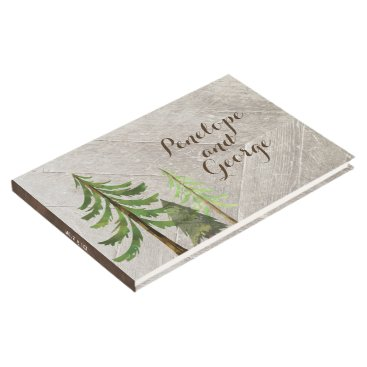 Beach Themed Rustic Trees Forest Wedding Guestbook