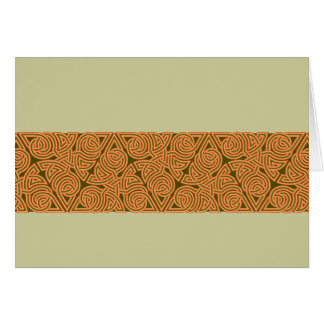 Rustic Triangle Knot Band Card