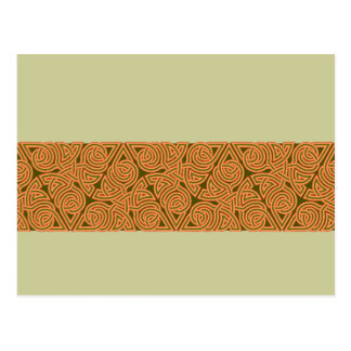 Rustic Triangle Knot Band Postcard