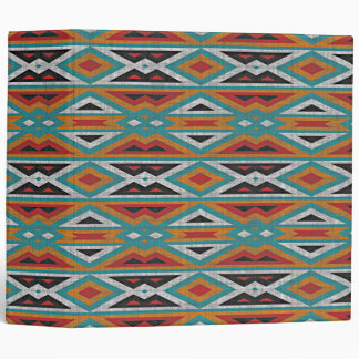 Rustic Tribe Mosaic Native American Indian Pattern Binder