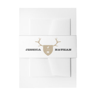 Rustic Trophy Gray Belly Band Invitation Belly Band