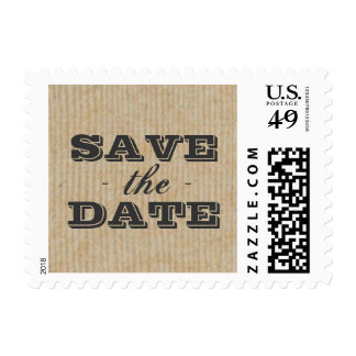 Rustic Trophy Gray Save the Date Stamp