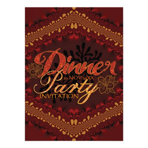 Rustic Tropical Dinner Party Invitations