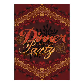 "Rustic Tropical Dinner Party Invitations 5.5"" X 7.5"" Invitation Card"