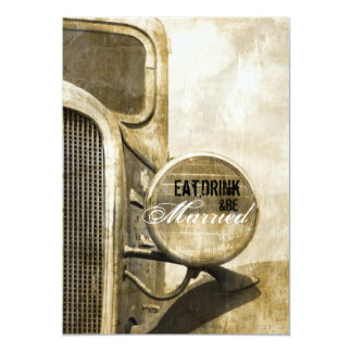 Rustic Truck Country farm Wedding Rehearsal Dinner Card