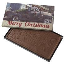 Rustic Truck Merry Christmas 2lb Box of Chocolate