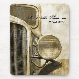 Rustic Truck Western Country Farm Wedding Mouse Pad