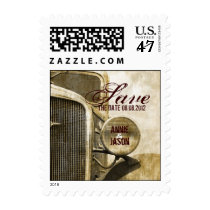 Rustic Truck Western Country Farm Wedding Postage