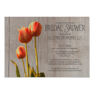 Rustic Tulip Bridal Shower Invitations Personalized Invitations