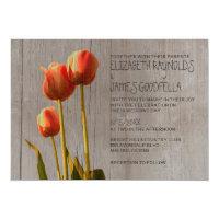 Rustic Tulip Wedding Invitations