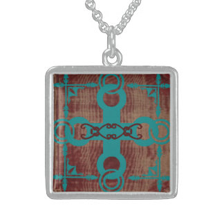 Rustic Turquoise Cross Necklace