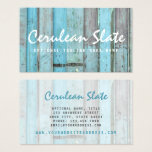 Rustic Turquoise Wood Vintage & Boho Chic Boutique Business Card at Zazzle