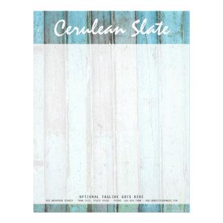 Rustic Turquoise Wood Vintage & Boho Chic Boutique Letterhead