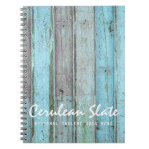 Rustic Turquoise Wood Vintage & Boho Chic Boutique Notebook
