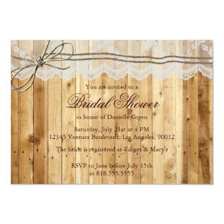 Rustic Twine Lace Wedding Invitation