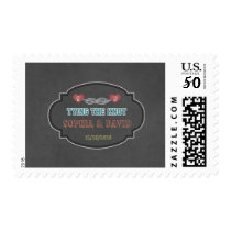 Rustic Tying the Knot Chalk Engagement Party Postage
