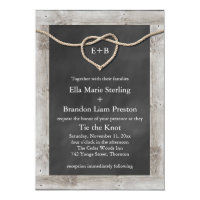 Rustic Tying the Knot Wedding Invitation