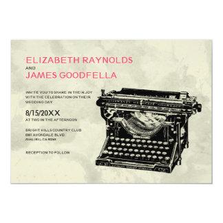 Rustic Typewriter Keys Wedding Invitations Invitations