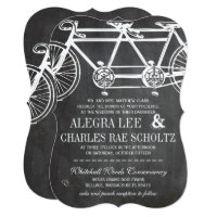 Rustic Typography Chalkboard Vintage Bicycle Card
