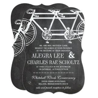 Rustic Typography Chalkboard Vintage Bicycle Card