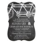 Rustic Typography Chalkboard Vintage Bicycle Custom Invites