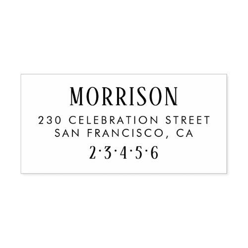Rustic Typography Custom Name  Return Address Rubber Stamp