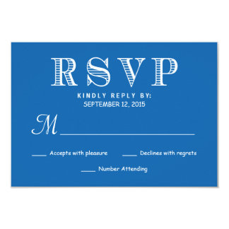 Rustic Typography Wedding Reply Pacific Ocean Blue Card