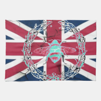 Rustic Union Jack Flag queen jubilee french bee Hand Towel