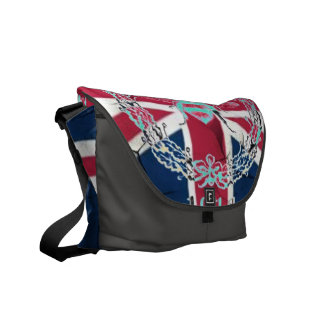 Rustic Union Jack Flag queen jubilee french bee Messenger Bag