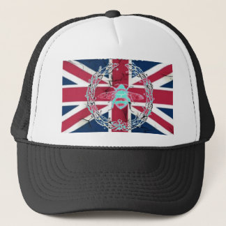 Rustic Union Jack Flag queen jubilee french bee Trucker Hat