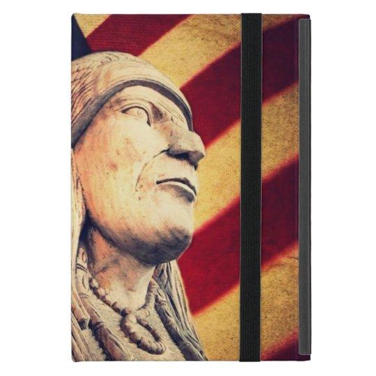 Rustic USA flag patriotic Native American iPad Mini Case