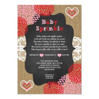 Rustic Valentine baby sprinkle invites