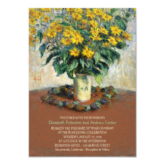 Rustic Vase Sunflower Mason Jar 4.5x6.25 wedding Card