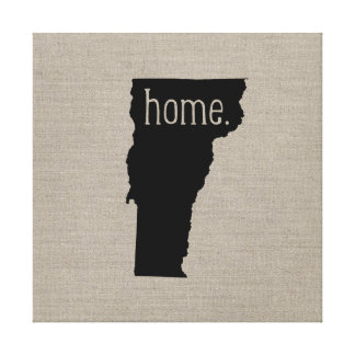 Rustic Vermont Home State Wrapped Canvas Art Stretched Canvas Print