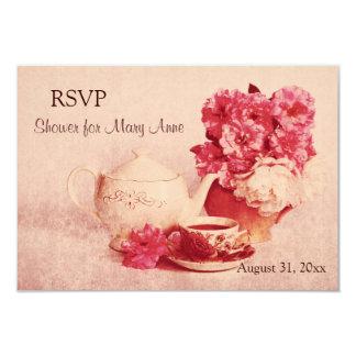 Rustic victorian tea party RSVP card