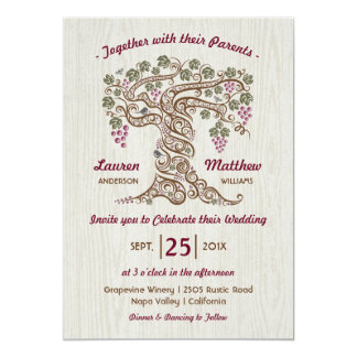 Rustic Vineyard Wedding Invitation