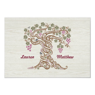 Rustic Vineyard Wedding RSVP Card