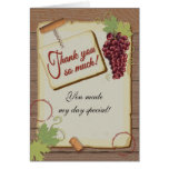 Rustic Vineyard Winery Thank you note cards