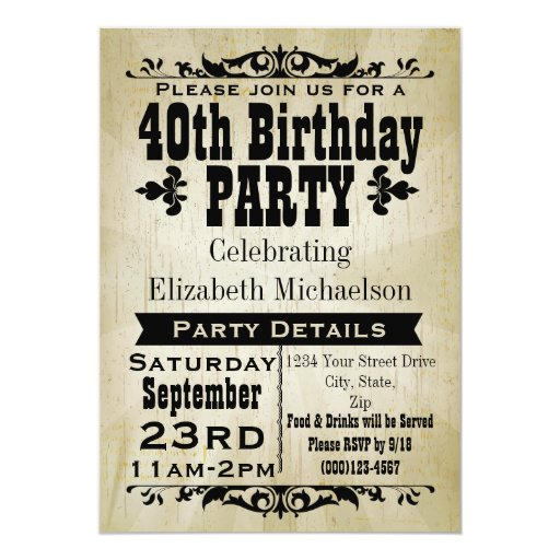 Surprise Party Invitation Ideas as beautiful invitations example