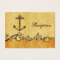 rustic, vintage ,anchor nautical Reception cards