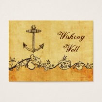 rustic, vintage ,anchor nautical wishing well card