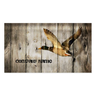 Rustic vintage barnwood country ducks hunter business card
