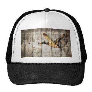 rustic vintage barnwood country ducks hunter trucker hat