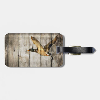 Rustic vintage barnwood country ducks hunter travel bag tags