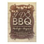 rustic vintage BBQ couples shower invitation