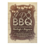rustic vintage BBQ rehearsal dinner invitation