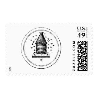 Rustic Vintage Beehive Postage Stamps