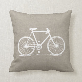 Rustic Vintage Bicycle Throw Pillow