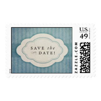 Rustic Vintage Blue Save the Date Stamps